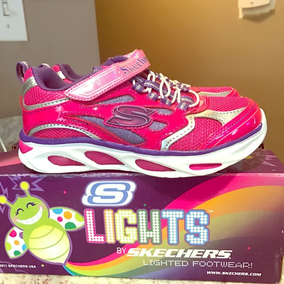 Brand new sketchers lights kids size 13